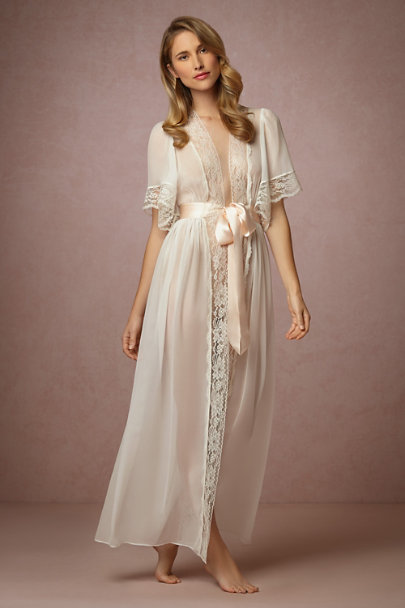 James Coviello white Starlet Robe | BHLDN