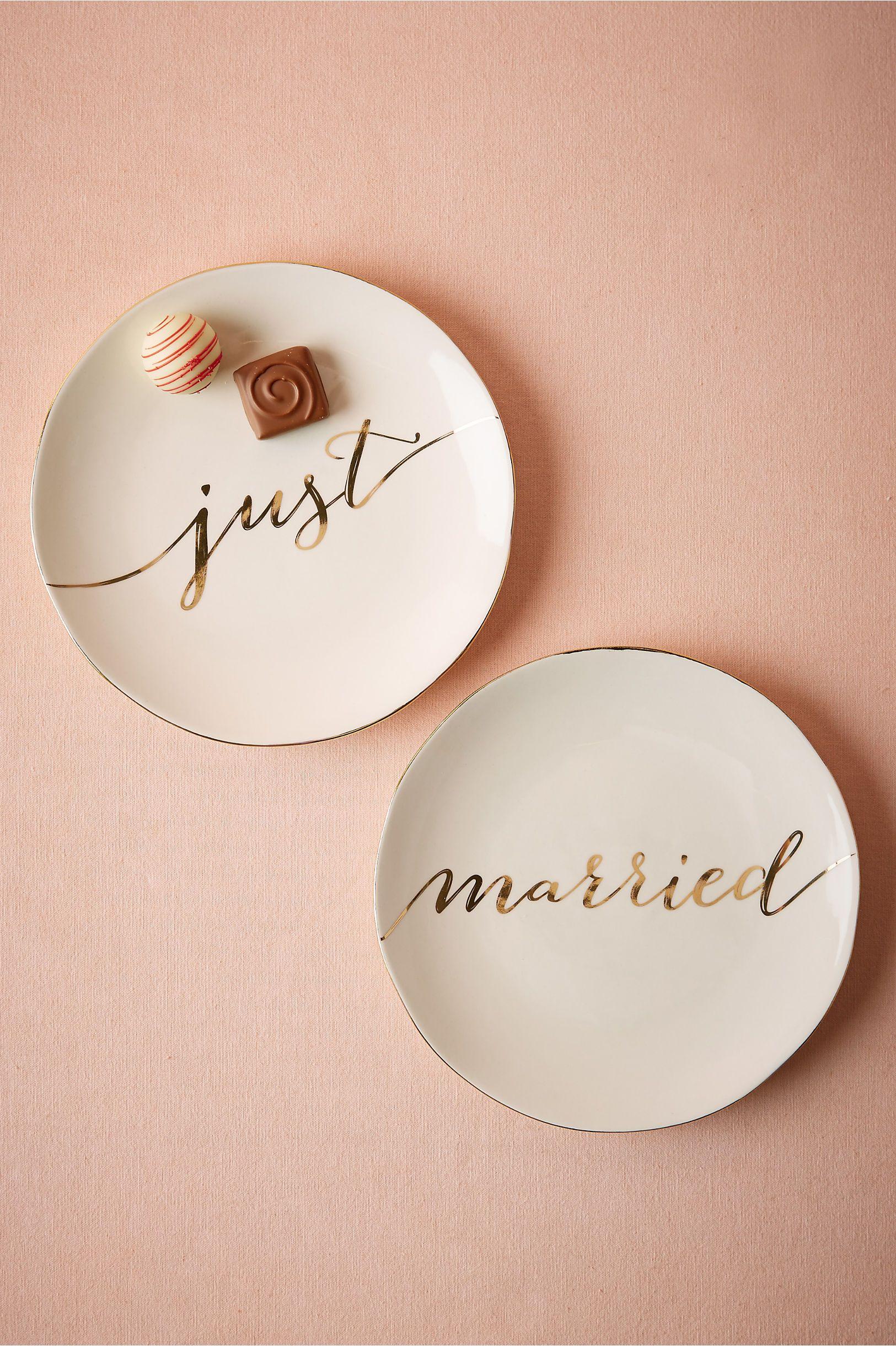 Just Married Dessert Plates (2)