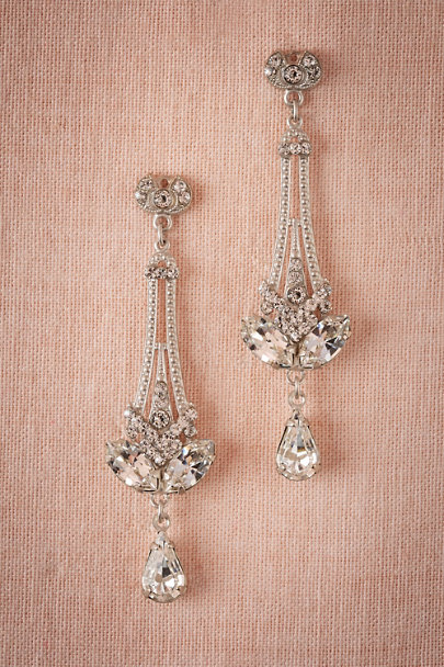 Debra Moreland Silver Eli Chandelier Earrings | BHLDN