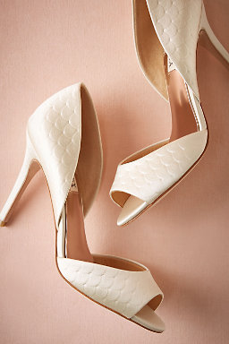 Pressed Scallop D'Orsay Heels