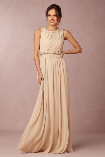 Jenny Yoo Light Sand Eloise Dress | BHLDN