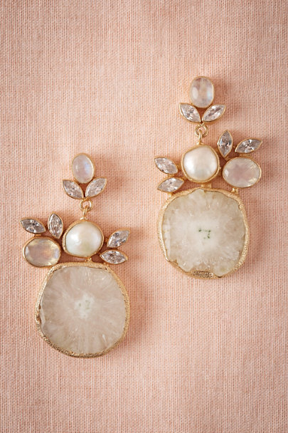 Atelier Mon Pearl Druzy Drop Earrings | BHLDN