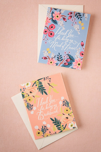 Rifle Paper Co. Bridesmaid Blooming Thank You Card | BHLDN