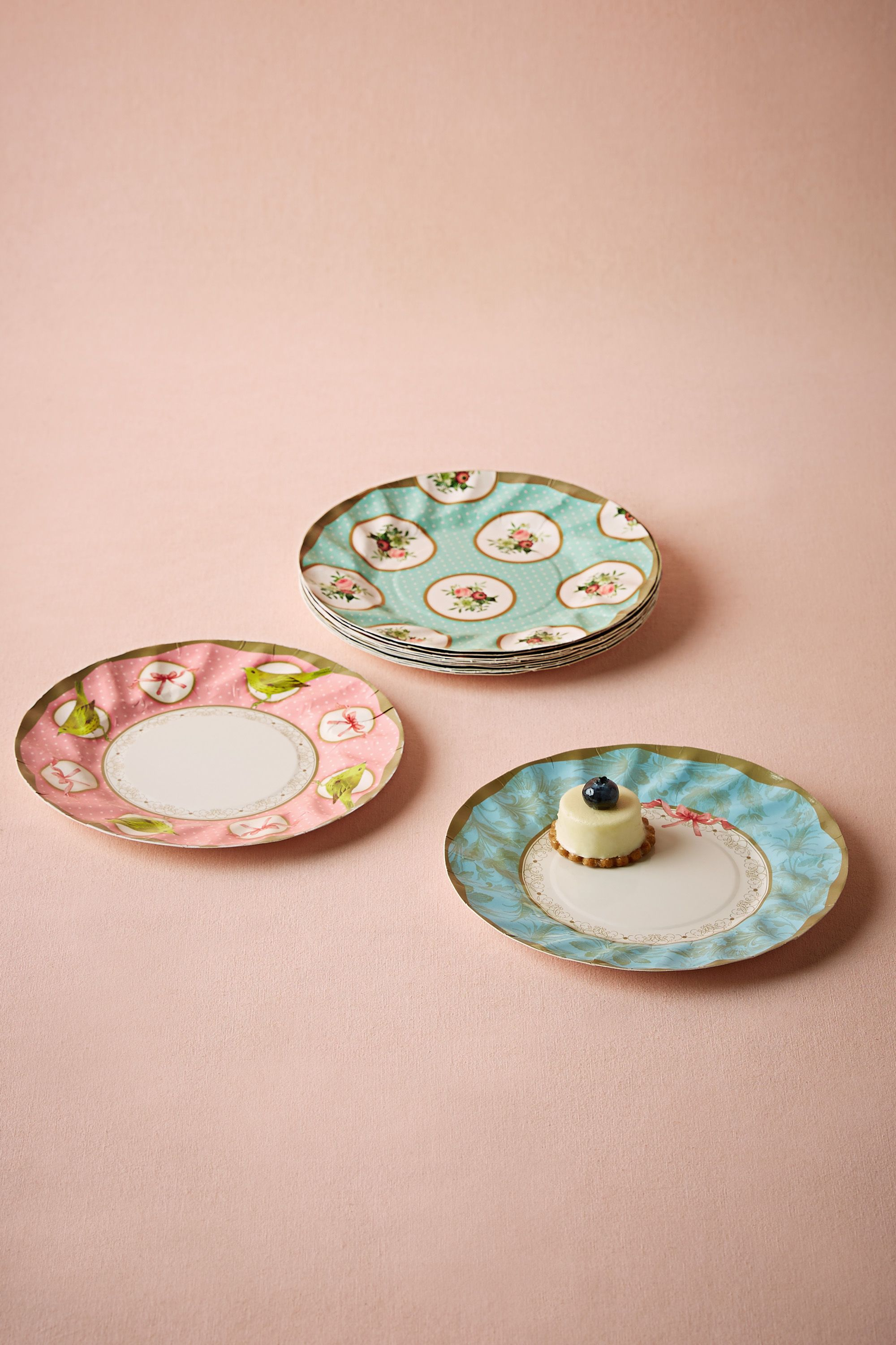 tea party paper plates Set of 12 floral tea cup party theme paper plates 8 gorgeous shades of mint  green, gold and pink with floral rose print perfect for your.