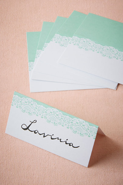 MINT Minted Lace Place Cards (10) | BHLDN