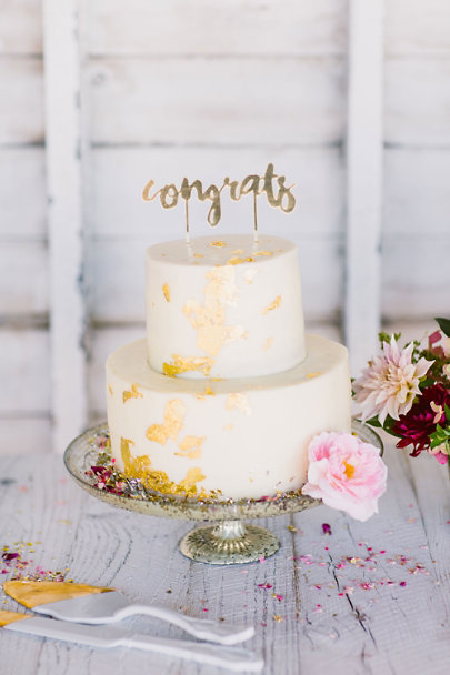 Porcelain Gold-Dipped Porcelain Cake Serving Set | BHLDN