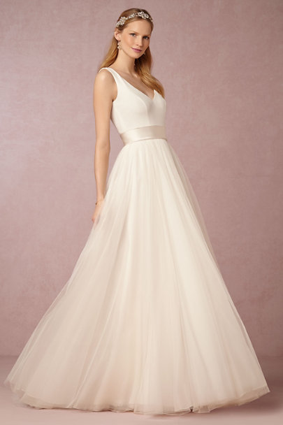 Theia Bridal Ivory Fabienne Gown | BHLDN
