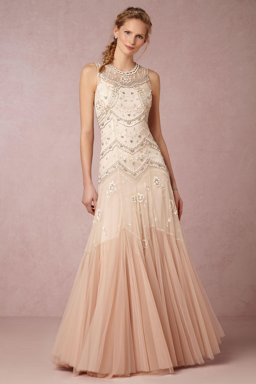 Wedding Anthropologie Wedding Dress cate gown in sale wedding dresses bhldn needle thread creamdust pink bhldn