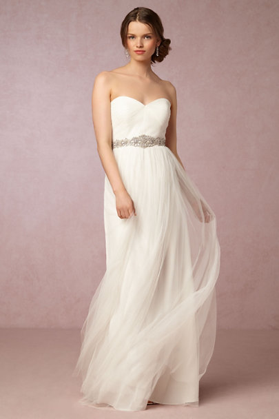 silver Ajoure Fitted Belt | BHLDN