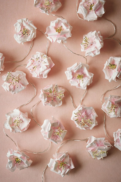 Pink Tea Rose Lights | BHLDN