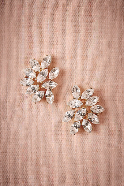 Ben-Amun Gold Marquee Crystal Earrings | BHLDN