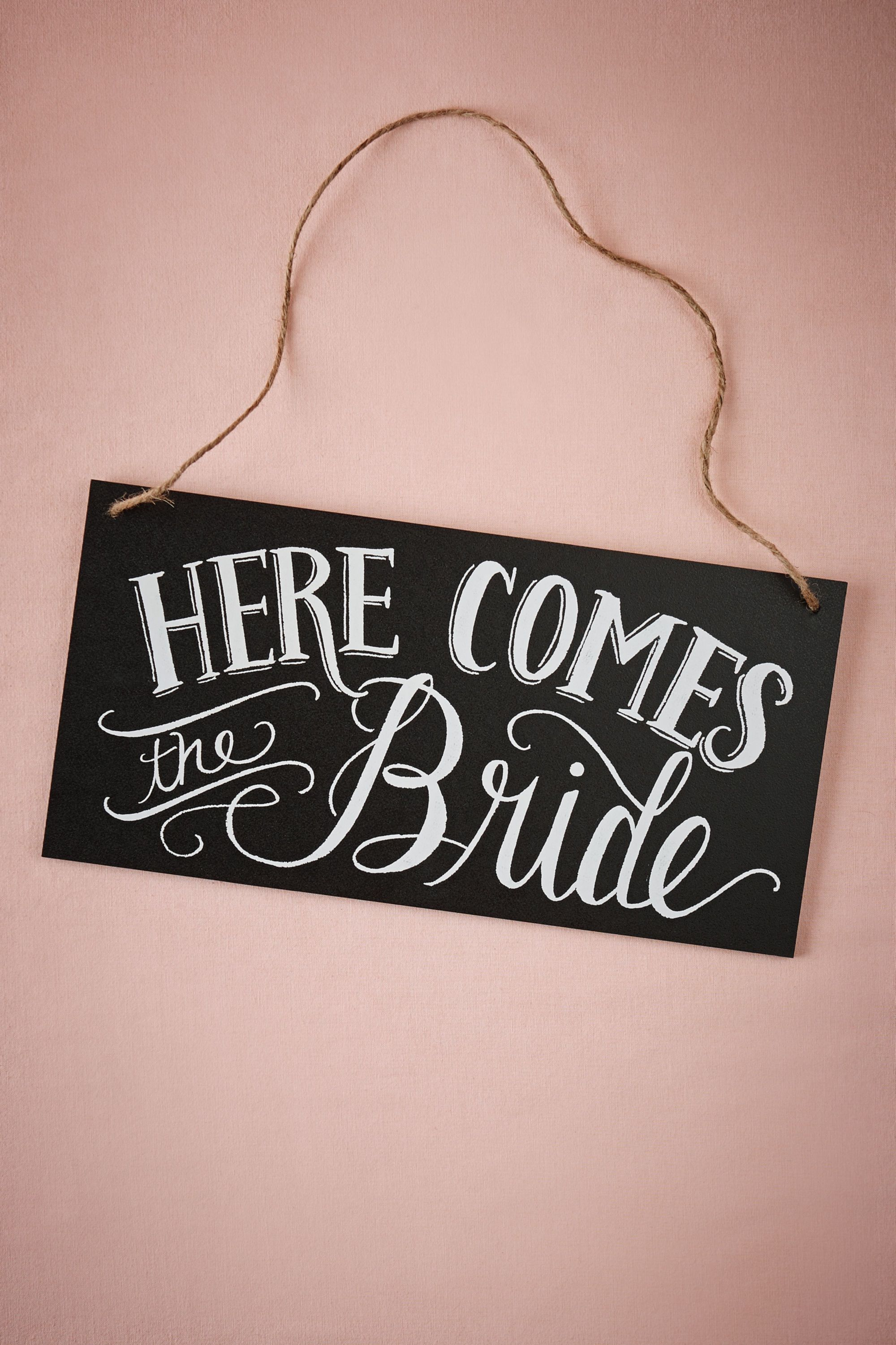 Here Comes The Bride Reversible Sign