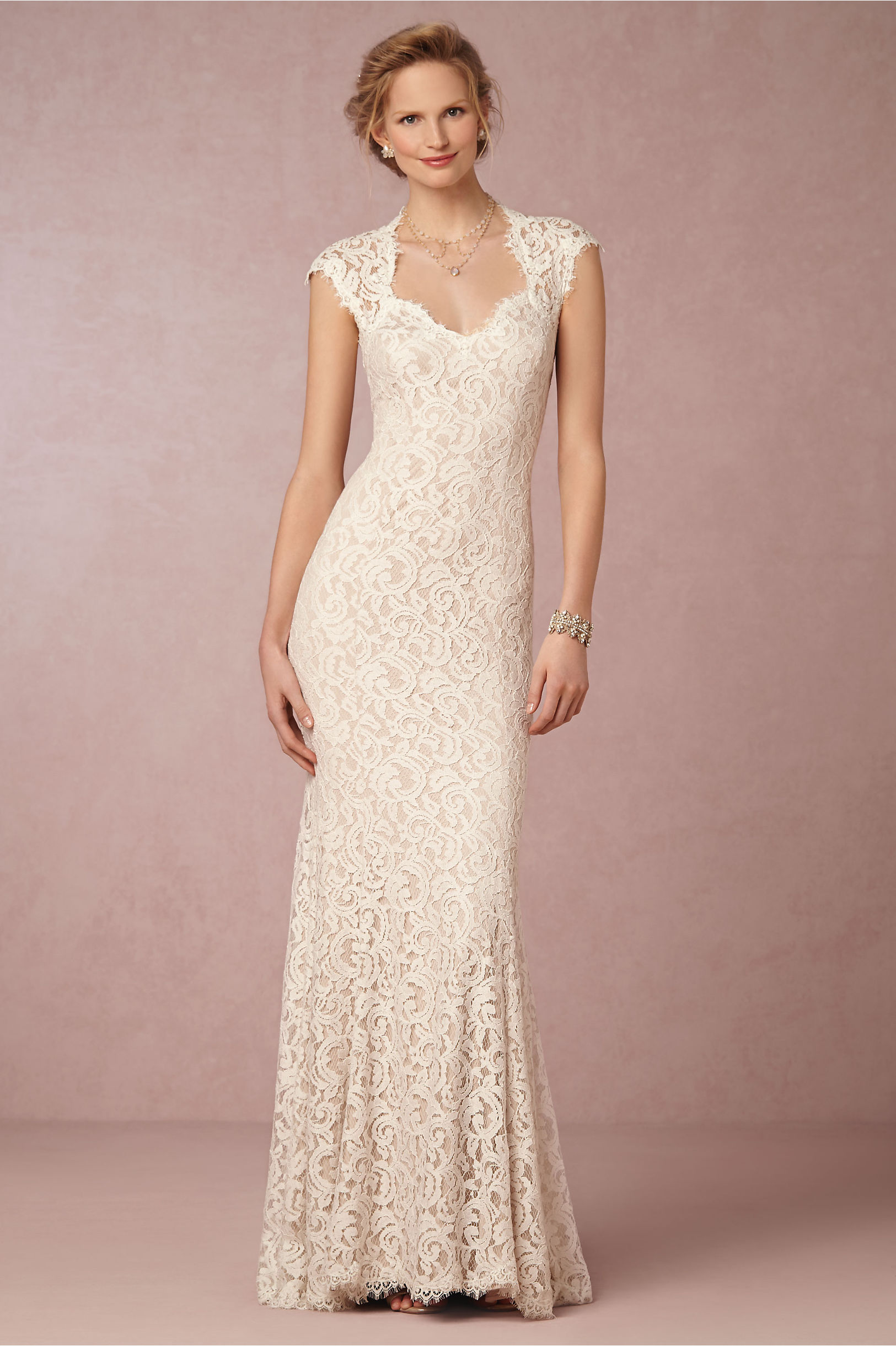9ee79372ec0 Designer Wedding Dresses From Fashion Month Tadashi Shoji. ivorynatural  marivana lace gown bhldn
