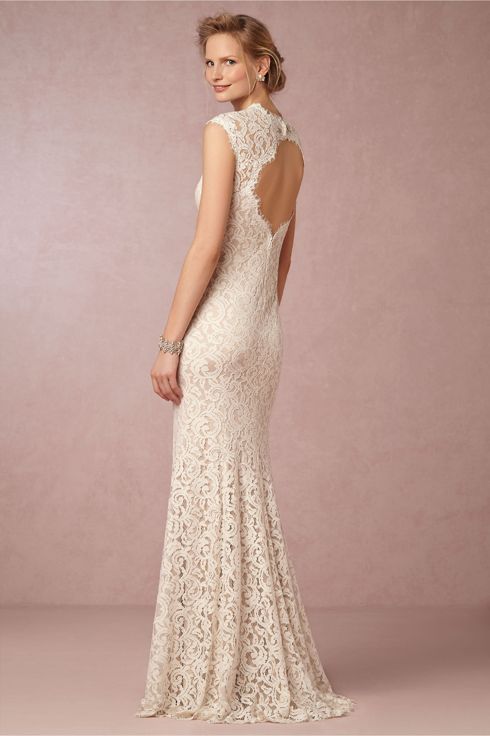 Marivana Lace Gown in Bride | BHLDN