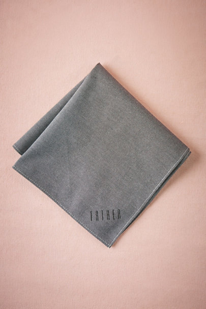 Grey Father Chambray Handkerchief | BHLDN