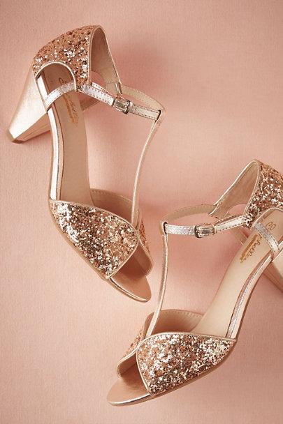 glitter t-strap pumps