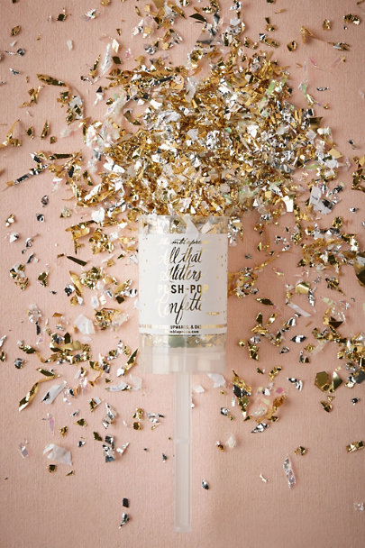Gold Glitter & Glam Popper | BHLDN
