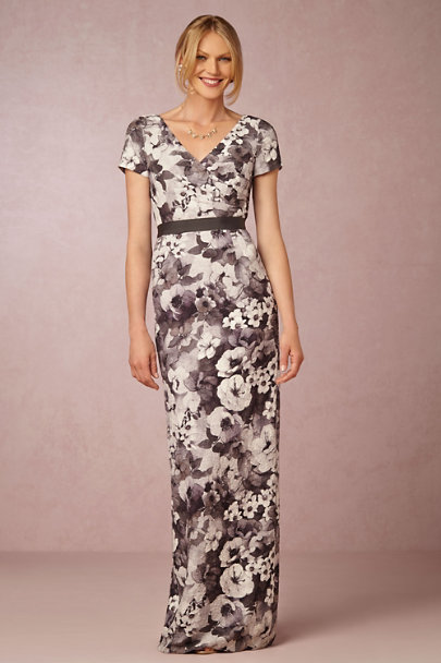 Adrianna Papell Grey/Multi Clemence Dress | BHLDN