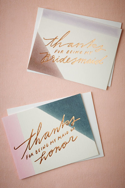 Bridesmaid Dipped Thank You Card | BHLDN