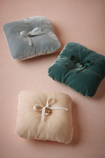 Grey Velveteen Ring Pillow | BHLDN
