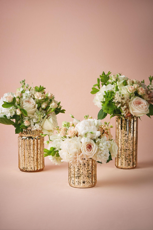 Fluted Mercury Vases