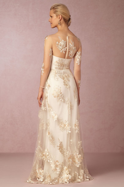 Marchesa Notte Ivory Julianna Gown | BHLDN