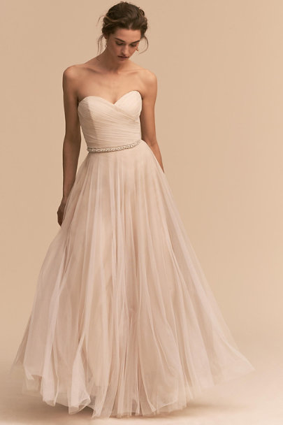 Calla gown moonlight in bride bhldn for A line style wedding dresses