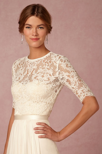 Wedding Dress With Lace Topper