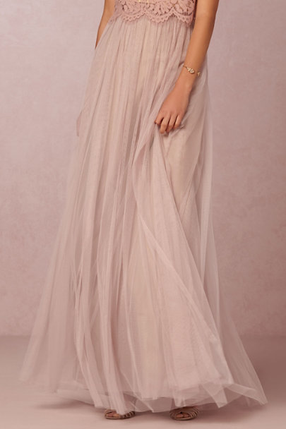 Jenny Yoo Rose Quartz Louise Tulle Skirt | BHLDN