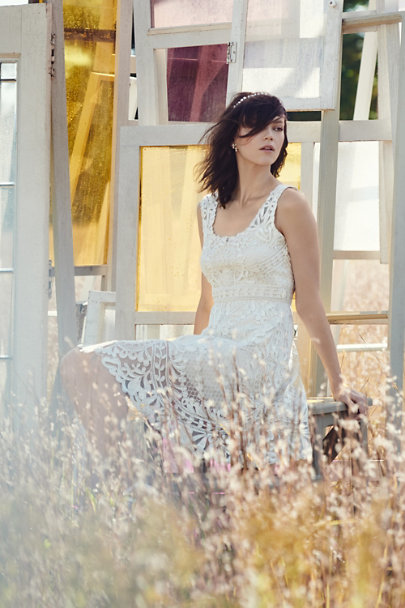 Yoana Baraschi Ivory Anouska Dress  | BHLDN