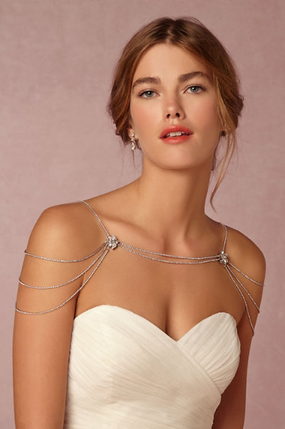 Sara Gabriel Silver Reina Shoulder Necklace | BHLDN
