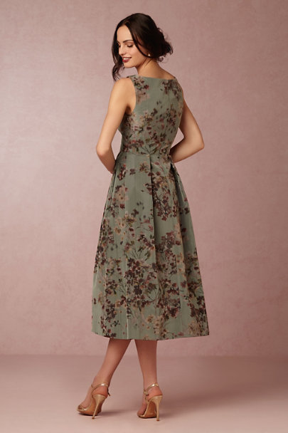 Green Print Olympia Dress | BHLDN