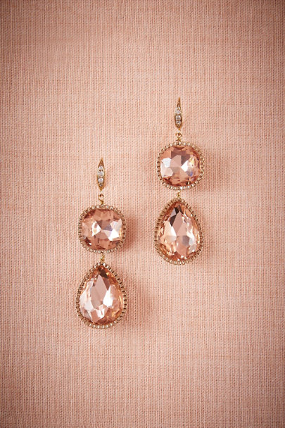 Theia Jewelry Blush Pear Drop Earrings | BHLDN