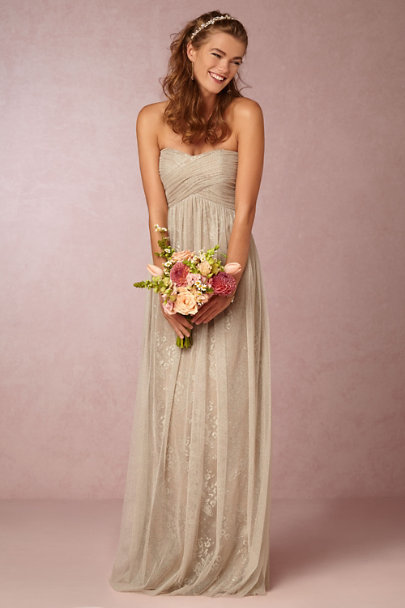 Donna Morgan Nude/Silver Rose Dress | BHLDN