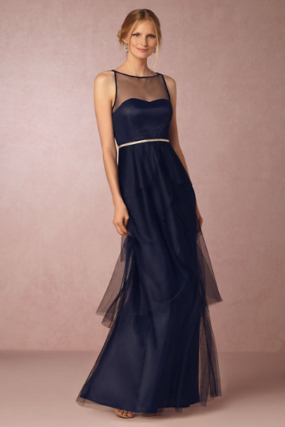 Donna Morgan Midnight Hyacinth Dress | BHLDN