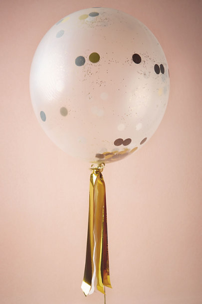 Gold Confetti Shine Balloons (8) | BHLDN