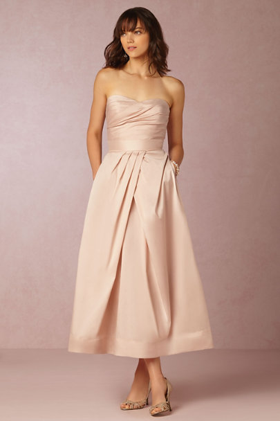 Monique Lhuillier Bridesmaids Blush Salene Taffeta Skirt | BHLDN