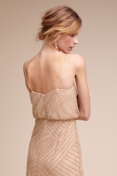 Adrianna Papell Rose Gold Sophia Dress | BHLDN