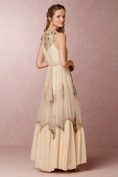 Pallavi Mohan Champagne Mauve Gayle Dress | BHLDN