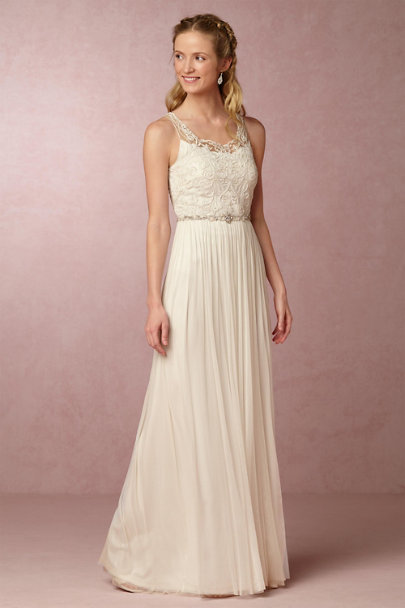 Geisha Designs Ivory Lucia Gown | BHLDN