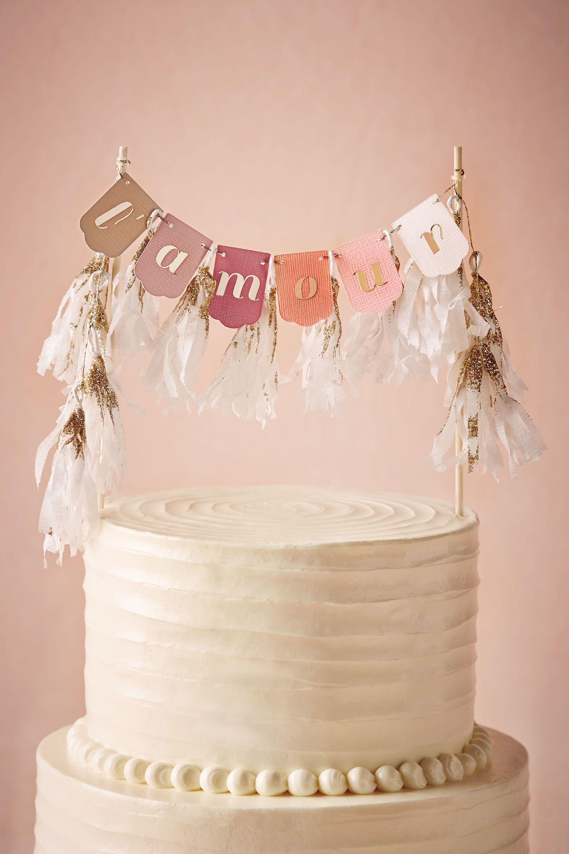 Blush LAmour Cake Topper BHLDN