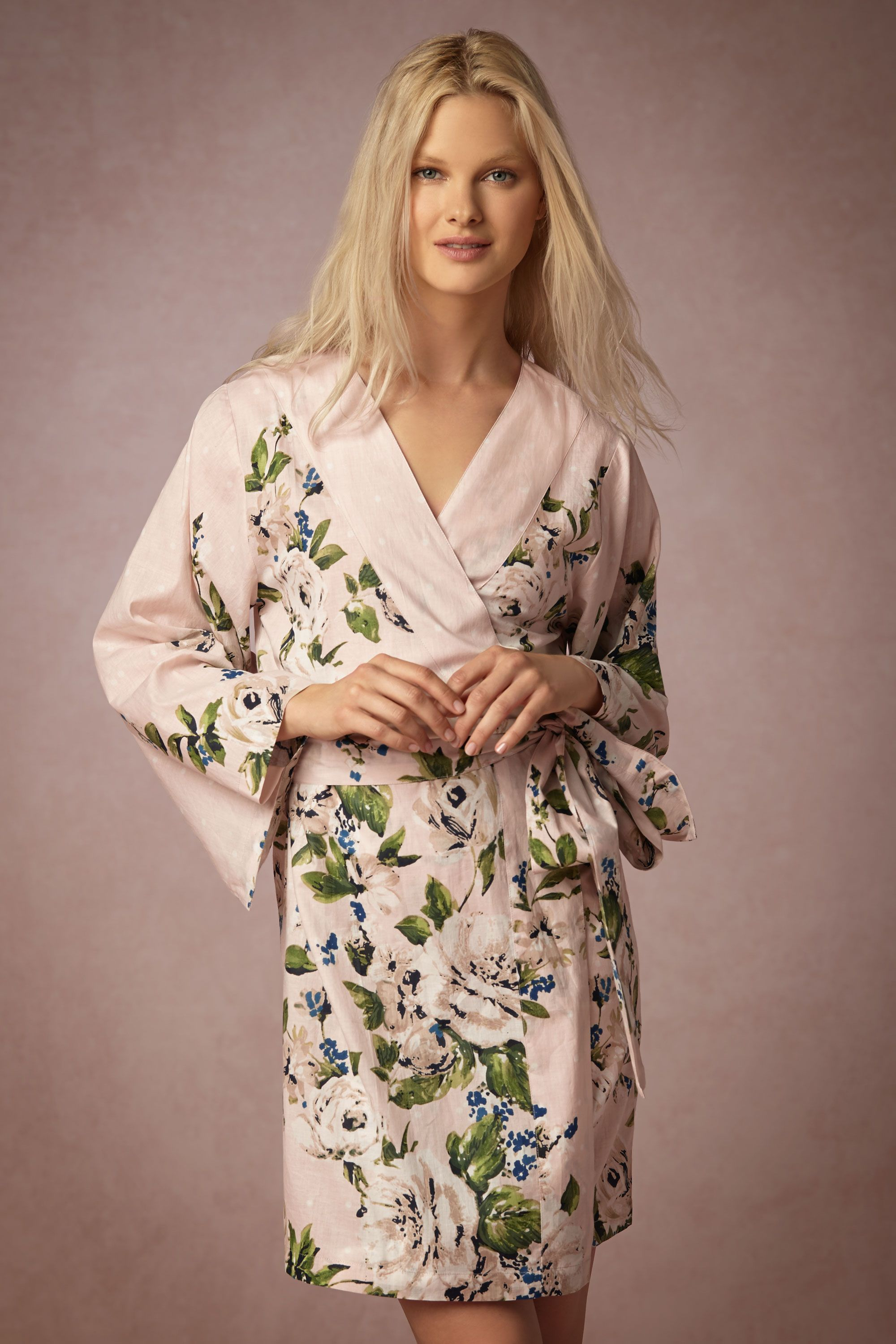 Gift Guide for the bride-to-be - painted petal floral robe