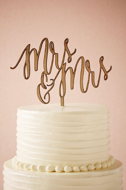 MRS/MRS Scripted Cake Topper | BHLDN