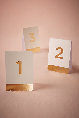 Tented Foil Table Numbers