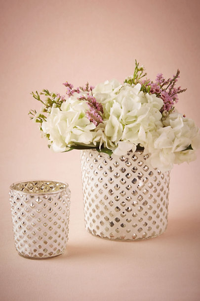 White Clay Latticework Vase | BHLDN