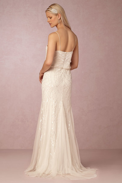 Adrianna Papell Ivory Grazia Dress | BHLDN