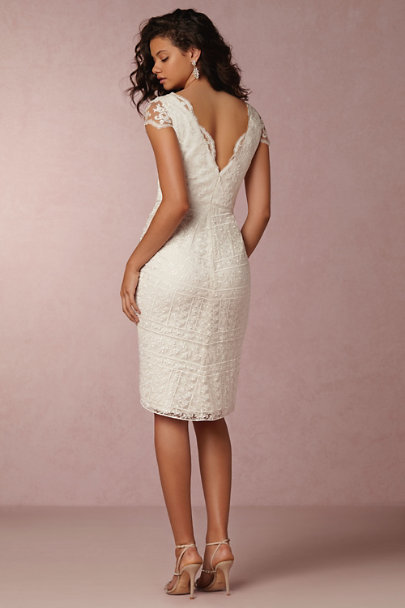 Marchesa Notte Ivory Jonesie Dress | BHLDN