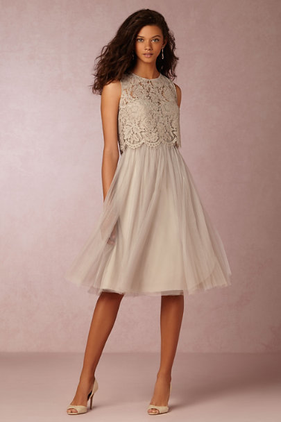 Jenny Yoo Alpine Grey Maia Dress | BHLDN