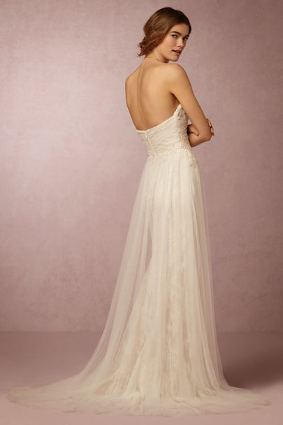 Marchesa Notte Ivory Lilou Gown | BHLDN