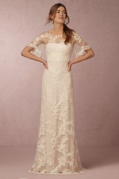 Marchesa Notte Ivory Estella Gown | BHLDN